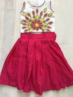 Kids Crop Top Lehenga - Indian Dresses