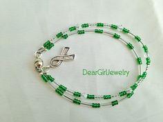 kidney cancer awareness multi-strand bracelet by DearGirlJewelry on Etsy, $12.00