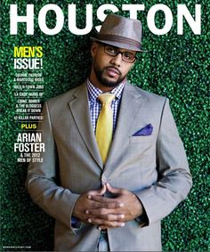 Arian Foster is the first athlete to be on the cover of Houston Magazine arianfoster