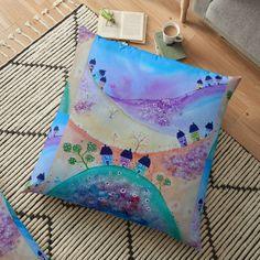 Large Cushions, Pillow Design, Floor Pillows, Vibrant, Flooring, Wood Flooring, Floor Cushions, Rug Pads, Floor