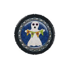 Halloween Ghost Bottle Cap Candy Tin - home gifts ideas decor special unique custom individual customized individualized