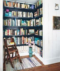 I love the idea of turning a closet into a mini-library!