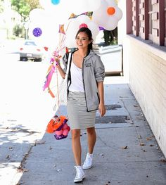 Jamie Chung Shows Us How to Dress-Down a Pencil Skirt - SELF