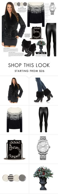 """""""The Kylie Rabbit Fur Coat with Fox Collar in Black"""" by furhatworld ❤ liked on Polyvore featuring Anja, FRR, Paul & Joe Sister, Studio, Chanel, Calvin Klein and Kate Spade"""