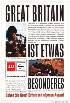Original-Werbung/ Anzeige 1963 - GREAT BRITAIN / BEA - ca. 155 x 230 mm