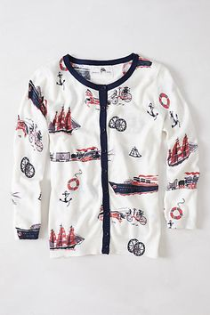 Anthropologie Nautical Time Travel Cardigan by Giuliana Leila RARE #Anthropologie #Cardigan