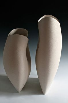 Two White Forms - tallest height 62 cms Ashraf Hanna