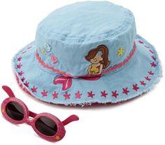 Stephen Joseph Girls 2-6X Bucket Hat with Sunglasses