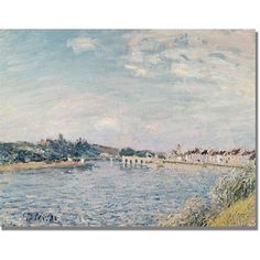 Trademark Fine Art Landscape, 1888 inch Canvas Art by Alfred Sisley, Size: 18 x 24, Multicolor