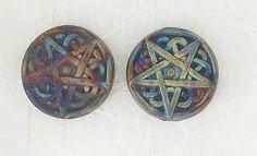 2 Raku Fired Pentagram Beads. Starting at $7 on Tophatter.com!