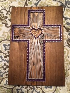 CUSTOM Cross String Art Religious Christian Decor Home