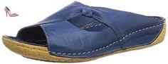 Andrea Conti  0029216013, Claquettes femme - Bleu - Blau (bleu 013), 39 EU - Chaussures andrea conti (*Partner-Link)