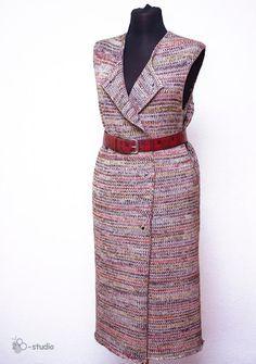 Вязаное пальто - трансформер из 2 частей: жилет + болеро - Ярмарка Мастеров - ручная работа, handmade