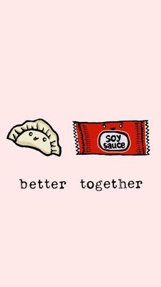 Résultats de recherche d'images pour « cute better together Cute Food Wallpaper, Kawaii Wallpaper, Cartoon Wallpaper, Cute Wallpaper Backgrounds, Cute Wallpapers, Iphone Wallpaper, Walpapper Tumblr, Cute Food Drawings, Cute Puns