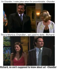 Friends TOW the proposal part We used to date- Richard. Friends Funny Moments, Friends Scenes, Friends Episodes, I Love My Friends, Friends Tv Show, Best Friends, Friend Jokes, Tv Show Quotes, Fandoms