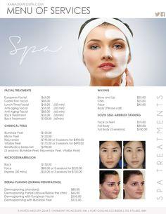 Facials Medical Spa Menu of Services