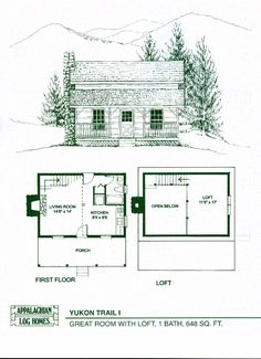 log home package kits - log cabin kits - silver mountain model