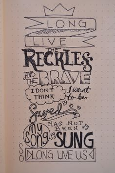(20) Tumblr  Long Live The Reckless and The Brave~
