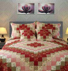 Tache 5 Piece Sweetheart Diamond Quilt Set (Cal King) | Tache Home Fashion