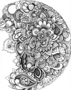 Design Drawing Zentangle Floral