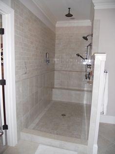 Walk In Doorless Showers For Small Bathrooms Design Ideas Doorless - Doorless shower designs for small bathrooms