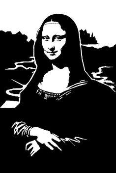 Mona Lisa Stencil by Kerblotto