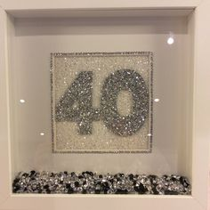 Any number any colour 10 Year Anniversary, Personalised Box, Box Frames, Customized Gifts, Gift Guide, Numbers, Birthdays, Crafty, Bedroom Ideas
