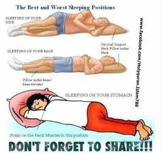 The Best & Worst Sleeping Positions & How to Improve Your Posture While You Sleep - Health And Healthy Living Neck And Back Pain, Neck Pain, Acdf Surgery, Best Sleep Positions, Postural, Scoliosis Exercises, Healthy Sleep, Stay Healthy, Healthy Life