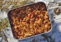 unstuffed peppers, dehydrated backpacking meals, backpacking recipes