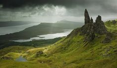 Isle Of Skye. One of the most beautiful places i've ever been to. Climb this(The old Mann of Storr) to the top and you can see the world! I did it in my Wellies! :)