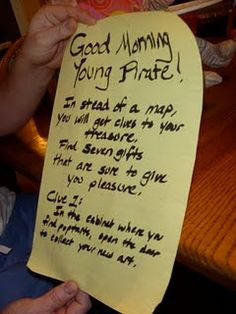 pirate scavenger hunt for gifts