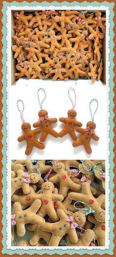 I love these felt Gingerbread men. They would look so cute on my christmas tree! Good enough to eat... #christmas #tree #gingerbread #ad