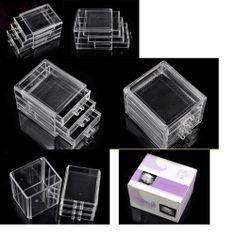 cosmética de acrílico transparente de acrílico organizador de maquillaje organizador del cajón con cajas de