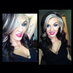 .love the hair but maybe where she has blonde I could put brown and where there is brown have blonde.
