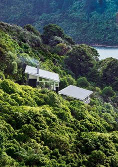 Apple Bay House by Parsonson Architects, Apple Bay, Marlborough Sounds, New Zealand. Location and view!