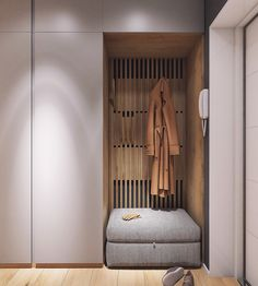 Moderrn apartment in Comfort Town on Behance modern hallway Flur Design, Hall Design, Design Design, Interior Design Living Room, Interior Modern, Living Room Designs, Hallway Wall Decor, Hallway Decorating, Hallway Lighting