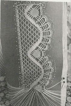 Bobbin lace is another technique of lacemaking. It's also known as pillow lace, and it is made by weaving threads wound on bobbins around pins holding a pattern to a pillow. Needle Tatting, Tatting Lace, Needle Lace, Lace Earrings, Lace Necklace, Hairpin Lace Crochet, Crochet Edgings, Crochet Motif, Crochet Shawl