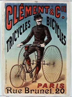 Clément et Cie Tricycles bicycles Paris rue Brunel, 20 (Affiche, 1890) - Bibliothèque nationale de France, Public Domain marked. Source: http://europeana.eu/portal/record/9200103/BibliographicResource_1000055640091.html