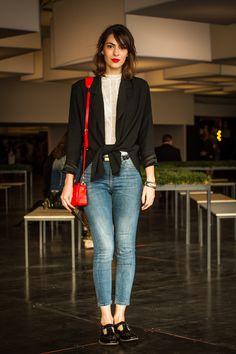 mais em http://modices.com.br #jeans #style #redlips