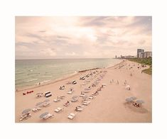 Miami Beach Any Given Weekend Aerial Fine Art Photography Print by Roman Gerardo
