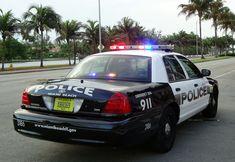 Us Police Car, Ford Police, Police Patrol, Police Officer, Miami Beach, Atlanta Police, Vw Golf Mk4, Emergency Vehicles, Police Vehicles