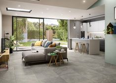 Living Room And Kitchen Together, Living Room And Kitchen Design, Open Plan Kitchen Dining Living, Open Space Living, Open Plan Living, Small Living Rooms, Living Room Designs, Living Spaces, Small Living Dining