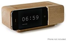 I SO need this...I use my ipod as an alarm clock and want a stylish doc. How cool is this?!