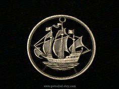 Great Britain - Half Penny - 1963 - War Ship