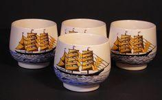 Hand painted sake cups Etsy listing at https://www.etsy.com/listing/220392220/sake-tea-cups-set-4-japanese-nautical