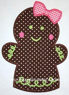 Gingerbread Girl   appliquecafe.com