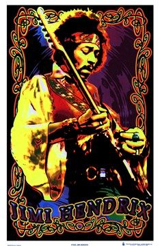 Jimi Hendrix Velvet Black light Poster - Experience Hendrix like never before with this psychedelic themed 23 X 35 Jimi Hendrix Velvet Black light Poster. Pop Posters, Band Posters, Concert Posters, Guitar Posters, Psychedelic Art, Woodstock, Jimi Hendrix Poster, Jimi Hendricks, Historia Do Rock