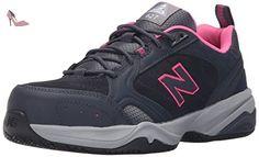 New Balance - Steel Toe femmes 627 Suede Shoes, EUR: 43 EUR - Width 2E, Dark Grey/Pink - Chaussures new balance (*Partner-Link)