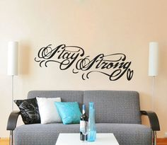 Stay Strong Tattoo Demi Lovato Inspired Wall by RemarkableWalls, $25.00
