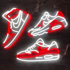 MK Neon strikes again with this unique Air Max 1 LED Neon Sign! Using the new technology of LED Neon, it's bigger and brighter than before!